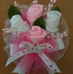 baby shower corsage in Favors