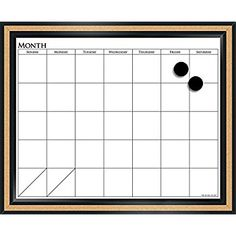 """Amazon.com : The Board Dudes 18"""" x 22"""" CorX Magnetic Dry Erase Calendar (CYK39) : Office Products"""