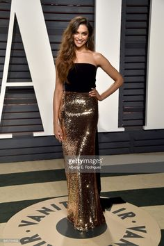 Actress Deepika Padukone attends the 2017 Vanity Fair Oscar Party hosted by Graydon Carter at Wallis Annenberg Center for the Performing Arts on February 26, 2017 in Beverly Hills, California.