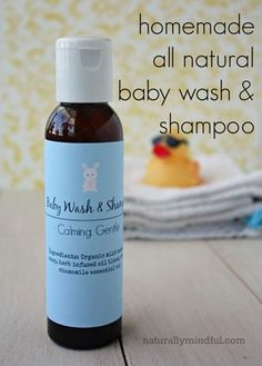 Homemade all natural Baby wash and shampoo. Simple, safe, and frugal! Save Money on Baby #baby save money having a baby