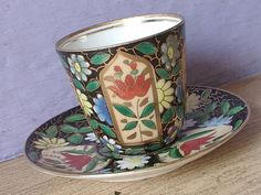 Antique 1800's Royal Vienna demitasse cup and saucer