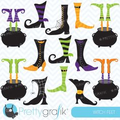 Witch feet - includes a wide variety of witch feet for your Halloween craft and creative projects.