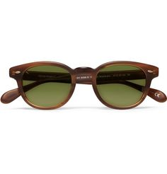 e4fa528213c Oliver Peoples Sheldrake Round-Frame Acetate Sunglasses