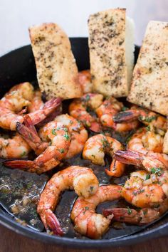 Gambas al Ajillo | 10 minute shrimp stir fried in garlic and olive oil | norecipes.com