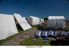 a roman camp - Stock Image