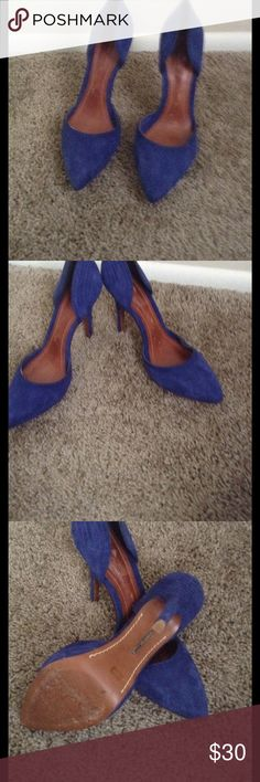 Blue suede Schultz shoes size 10b Blue suede size 10b used SCHUTZ Shoes Heels