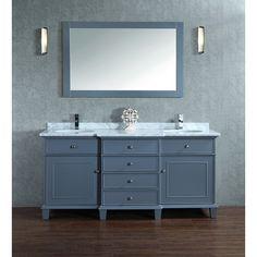 "Found it at Wayfair - 60"" Double Sink Bathroom Vanity Set with Mirror"