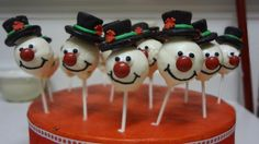 - The idea is courtesy of Bakerella.  These were for my son's preschool Christmas party.