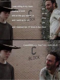 XD even lamas with hats love the walking dead