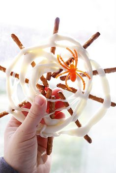 Halloween kids crafts can also use popsicle sticks store bought spider webs and fake spiders and hang up wahlah.