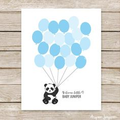An adorable Panda baby shower guest book that is customized for you and then you just print it! This Guest Book is a great alternative to the standard guest book and sooooooo much cuter! Baby Shower Signs, Baby Shower Games, Baby Boy Shower, Panda Decorations, Baby Shower Decorations, Panda Baby Showers, Baby Shower Vintage, Little Panda, Baby Shower Printables