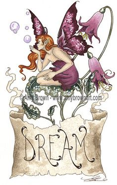 Amy Brown Dream Print 8.5x11 open edition print, SIGNED. @14.00