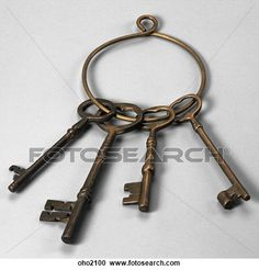 Stock Photography of Ring of Old Fashioned Metal Keys oho2100 ...