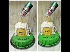 YouTube Bottle Cake, Design Tutorials, Christmas Ornaments, Holiday Decor, Youtube, Videos, Baby, Vintage, Pastries