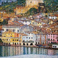 Gustav Klimt (Austrian, 1862-1918) Malcesine on the Lake Garda, 1913 Oil on canvas