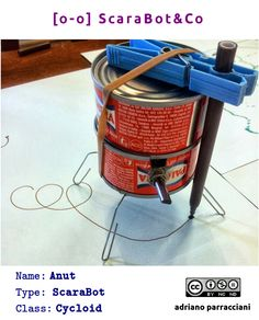 Anut - ScaraBot #tinkering Diy Robot, Coffee Cans, Canning, Drinks, Food, Drinking, Home Canning, Drink, Meals