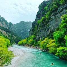 Arachthos River is the emerald choice of rafting enthusiasts © Pericles Perakos Rafting, Greece Islands, Nature Images, Greece Travel, Beautiful Beaches, Adventure, Instagram, Amazing, Fun Time