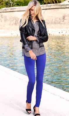 Royal blue jeans   Skinny, Royals and Royal blue
