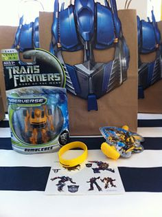 Transformers Favors and Bags