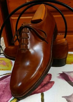 Zapato fabricado en piel de cordoban