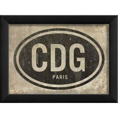 The Artwork Factory CDG Paris Airport Code Framed Textual Art