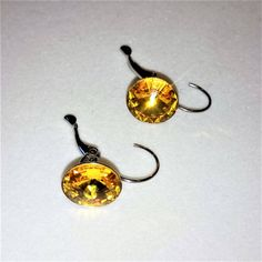 SWAROVSKI CRYSTAL EARRINGS - 12mm Rivoli Sunflower Crystalized Earrings with Silver Plated Lever back Ear Wire by BrownJewels on Etsy