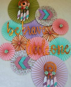Wild One, Boho Themed Backdrop- Be Brave, Little One