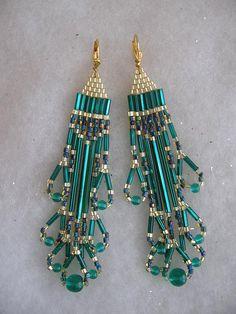 Beadwoven Earrings - Cleopatra Style