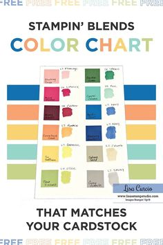Free Color Chart To Match Stampin Blends To Cardstock Card