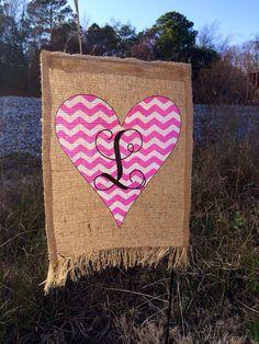 Attractive Valentineu0027s Day Garden Flag  Burlap Heart Flag  LOVE Garden Flag Valentine  Applique Personalized Valentine   Garden Flags And Flags