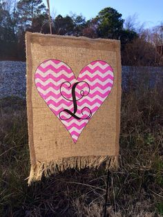 Burlap Garden Flag For Valentines Day. $20.00, Via Etsy. | + G I V E + |  Pinterest | Burlap Garden Flags, Burlap And Flags