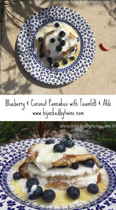 Hijacked By Twins: Blueberry and Coconut Pancakes with Team GB and Aldi