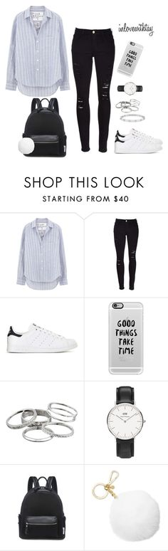 """""""4❤"""" by inlovewithtay ❤ liked on Polyvore featuring Frank & Eileen, Frame, adidas, Casetify, Kendra Scott, Daniel Wellington, Michael Kors and Anne Sisteron"""