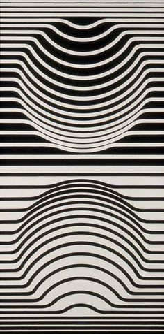 Victor Vasarély, Sir-Ris, ca. 1957 Black And White Google, Shape And Form, Sculpture Art, Print Design, Graphic Design, Op Art Lessons, Victor Vasarely, Maps For Kids, Pattern Images