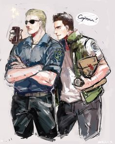 Resident Evil - Albert Wesker and Chris Redfield >>> Wesker need to chill with his worker too right?