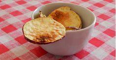 Querida Dieta: Chips de Batata Doce de Micro-ondas