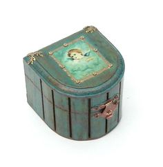 Small Jewelry and Trinket Box with Latch Cupid by Modern101, $35.00