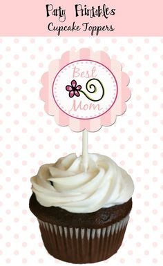 Moms Day Party  Cupcake Toppers 2 Party