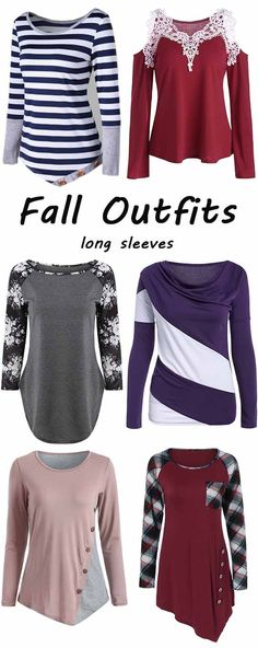fall outfits ideas:Long Sleeves tops for women