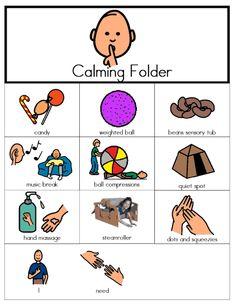 pdf download calming and alerting sensory folders with corresponding PECS (Boardmaker)