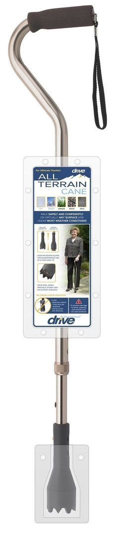 Drive Medical Black All Terrain Cane RTL10306AT