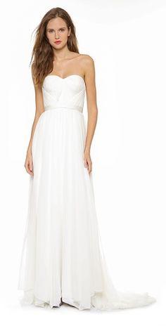 Marchesa Hand Draped Grecian Gown | SHOPBOP