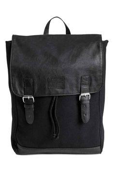Pamutvászon hátizsák - Fekete - NŐI   H&M HU 1