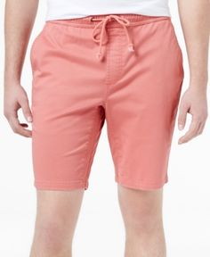 American Rag Men's Classic-Fit Stretch Solid Drawstring Shorts, Only at Macy's  - Pink 2XL