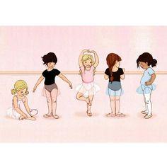 """Gravure """"The Little Dancers"""" (28x35cm) chez Rose & Milk"""