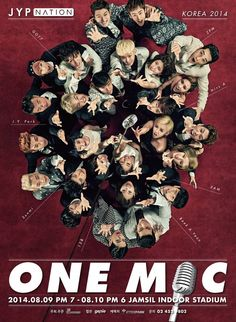 JYP Nation unveils poster for their family concert 'ONE MIC' in Asia kicking off this August | allkpop