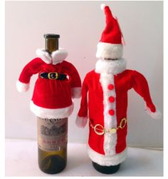 Cute Funny Christmas Wine Bottle Clothing Santa Claus Cover Dress Qty 1 | eBay