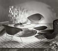 Harry Bertoia's Diamond and Bird Chair