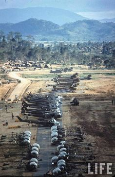 An Khe, 'Golf Course', the helipad of the 1st Cavalry Division, 1965.