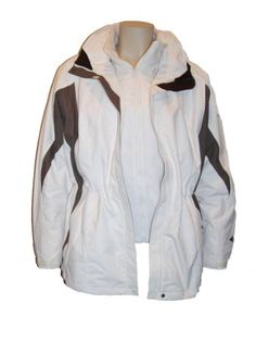 Womens Columbia Plus Size 3in1 Crescent Canyon Parka Coat Ski Jacket, Off-white/Brown 3X $179.95